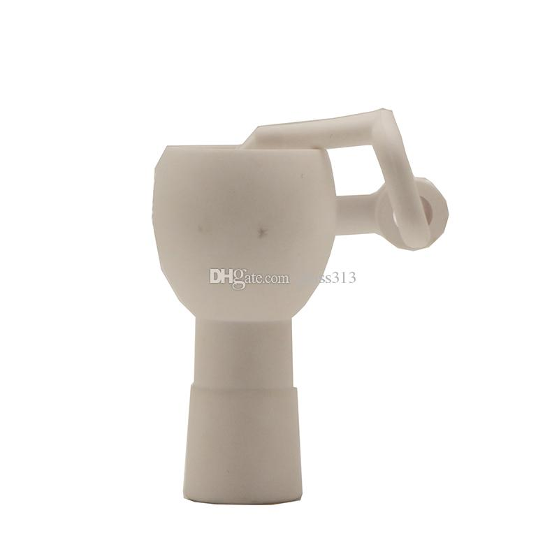 Céramique Seaux 14mm 18mm Homme Femme Joint Dab Rig céramique Balançoire Bras d'outils à main d'huile tuyau d'eau en verre Bong