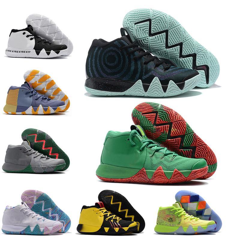 القادمون الجدد في عام 2020 IV الأخضر لاكي الأحذية السحر حجم المبيعات الساخنة أعلى جودة الحبوب كرة السلة الأحذية حذاء 40-46