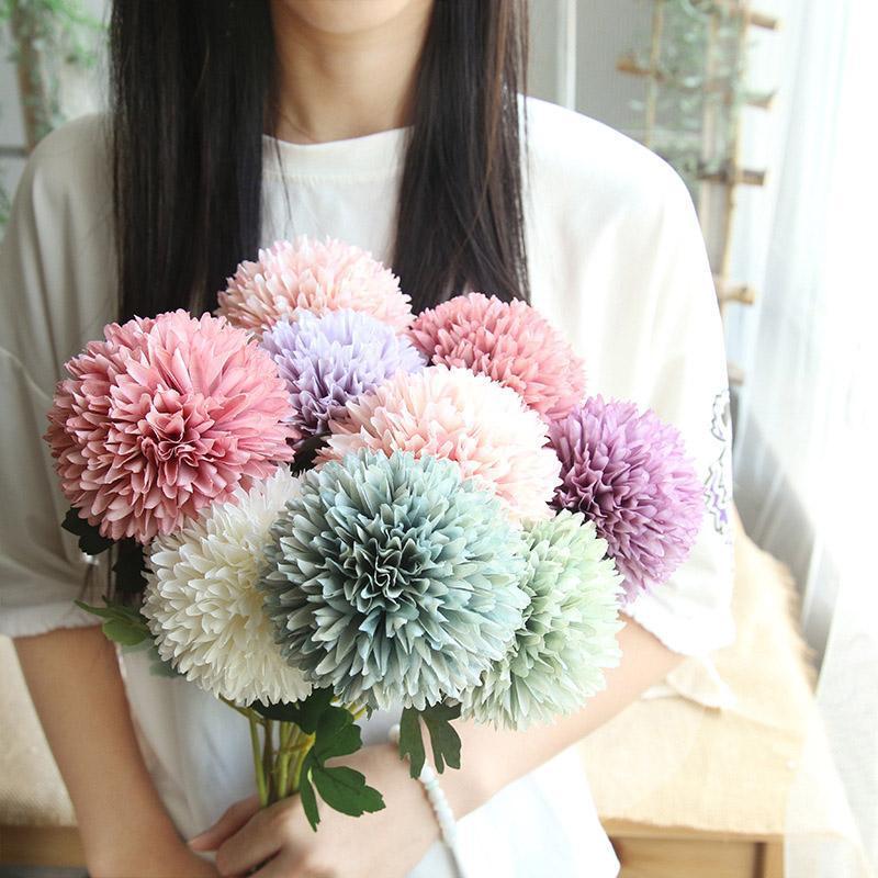 20pcs 56.5cm düğün Parti Karahindiba Çiçek Topu Simülasyon Yolu Duvar Sahte Çiçek Ev Dekorasyon Düğün Holding Flower Atıf
