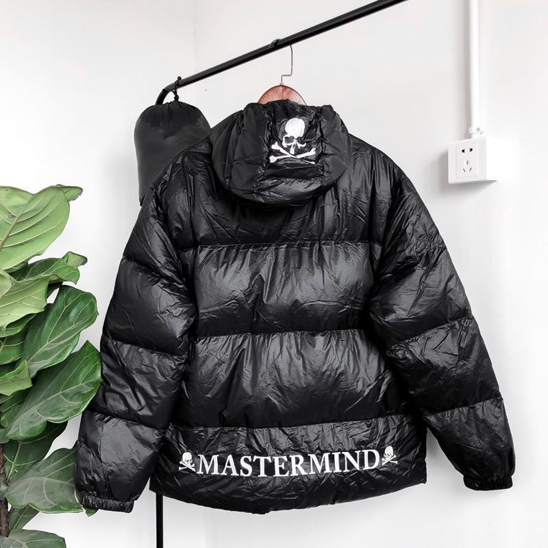Mastermind MMJ Skull Nuptse Hooded Down Jacket Logo Embroidery Black Coats Couple Hoodie Winter Mountain Outerwear Warm Fashion HFHLYRF035