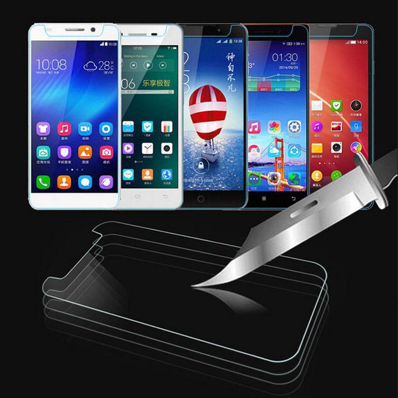 Ultra Thin Universal Mobile Phone Ausgeglichenes Glas Premium-Front-Displayschutzfolie für 3,5 4,0 4,3 4,5 4,7 5,0 5,3 5,5 5,7 6,0 Zoll