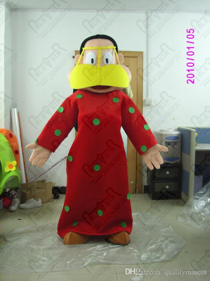 dibujos animados azul mujer de color rojo de la mascota máscara del vestido del traje de la venta caliente poco de color rosa niña Trajes POLE mascota de la estrella