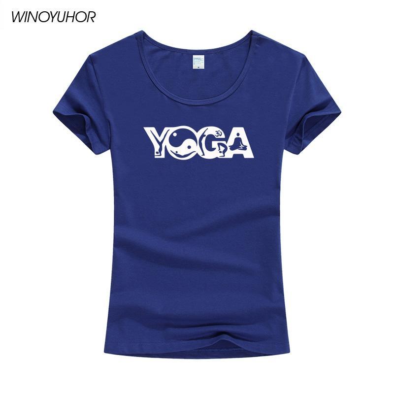 Lady OM Sembol Buda için Toptan-Komik Harf Baskı T Shirt Kadınlar Yaz Kısa Kollu Tai Chi tişört Camiseta Femenina Tops