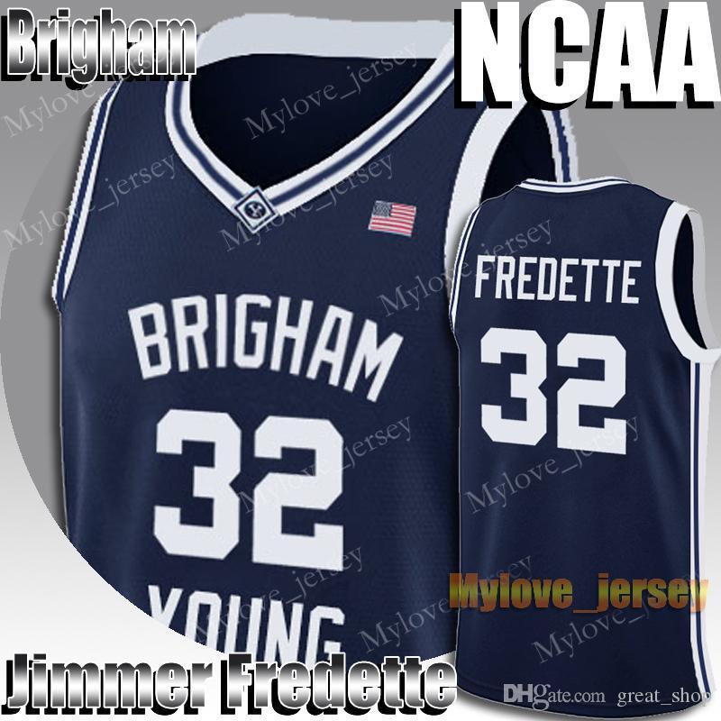 NCAA Brigham Young Jimmer 32 Fredette Dwyane 3 Wade Allen 3 Iverson 33 Jersey 23 Michael Jersey MJ Üniversitesi Basketbol Forması