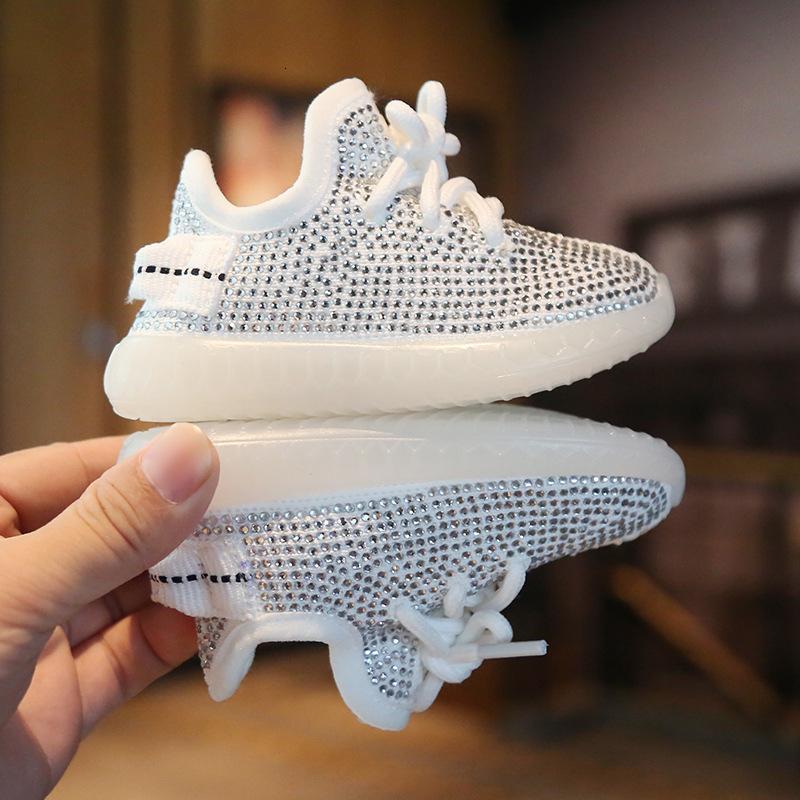 ShoesMX190926 2019 zapatos de las zapatillas de deporte del bebé del Rhinestone de coco Otoño 0-2 años de muchacho Deportes Zapatos de las muchachas zapatos del niño inferior suave infantil