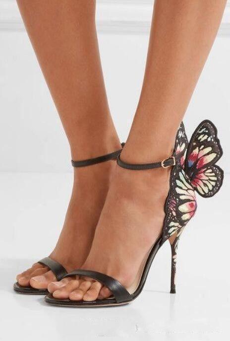 صوفيا ويبستر Winge الفراشة زفاف العرسان أحذية نسائية جلد طبيعي سيدة مصارعين الصنادل