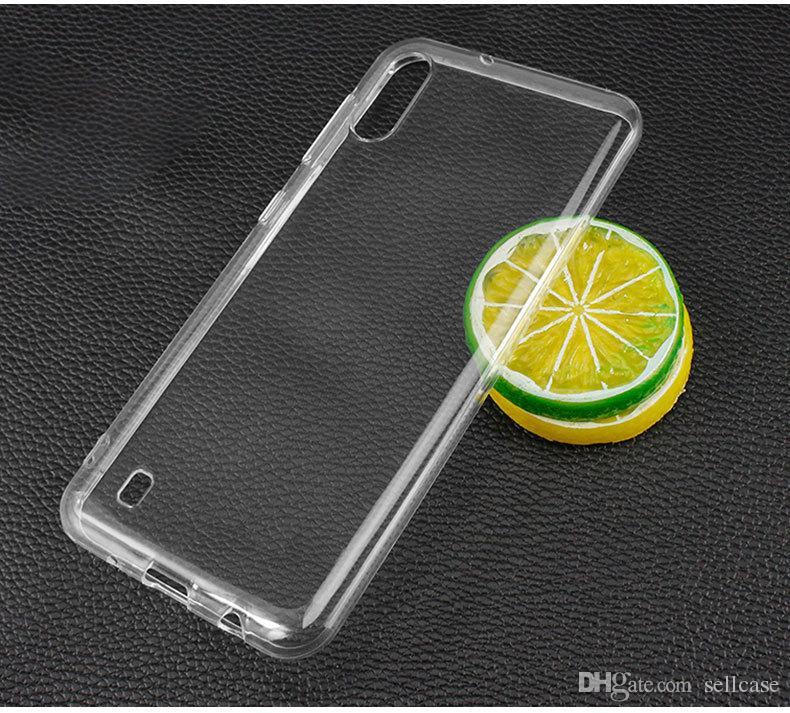 Clear Thin Silicona Suave Ultra Slim Fit Cristal Transparente Parachoques TPU Flexible Funda para Samsung galaxy M10 M20 M30