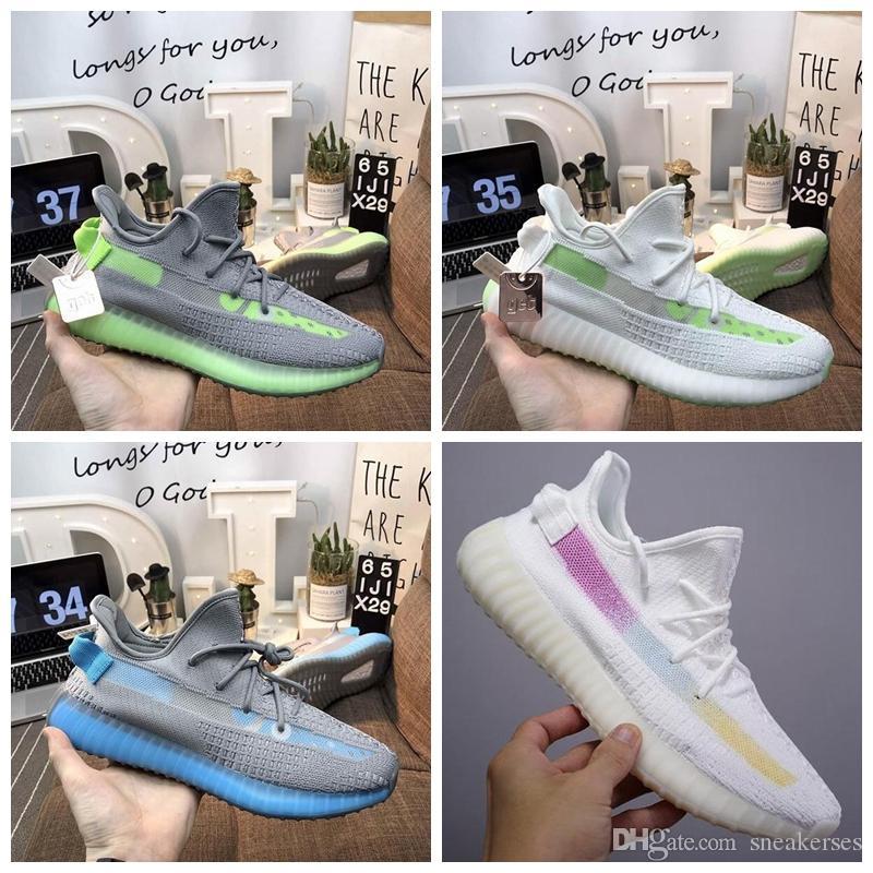 ADIDAS Kutu ile 2019 YENI V2 ANTLIA Ture Formu GECE Glow Synth Korsan Siyah Erkek Koşu Ayakkabıları Kanye West Beyaz Siyah Tasarımcı Kadın Sneakers