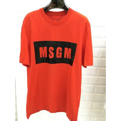 Mens Designer T Shirt Trend Letter MSGM Tees Casual Printing Short Sleeve Loose Fashion Tops for Women & Couple 2019 Summer New 9 Styles