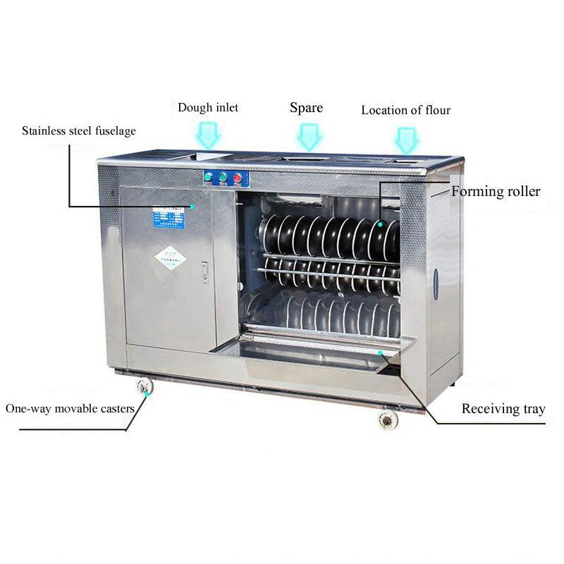 Nouveau 2200W commercial en acier inoxydable pain cuit à la vapeur Machine de fabrication de pâte sphérique Machine de pain cuit à la vapeur formant la machine