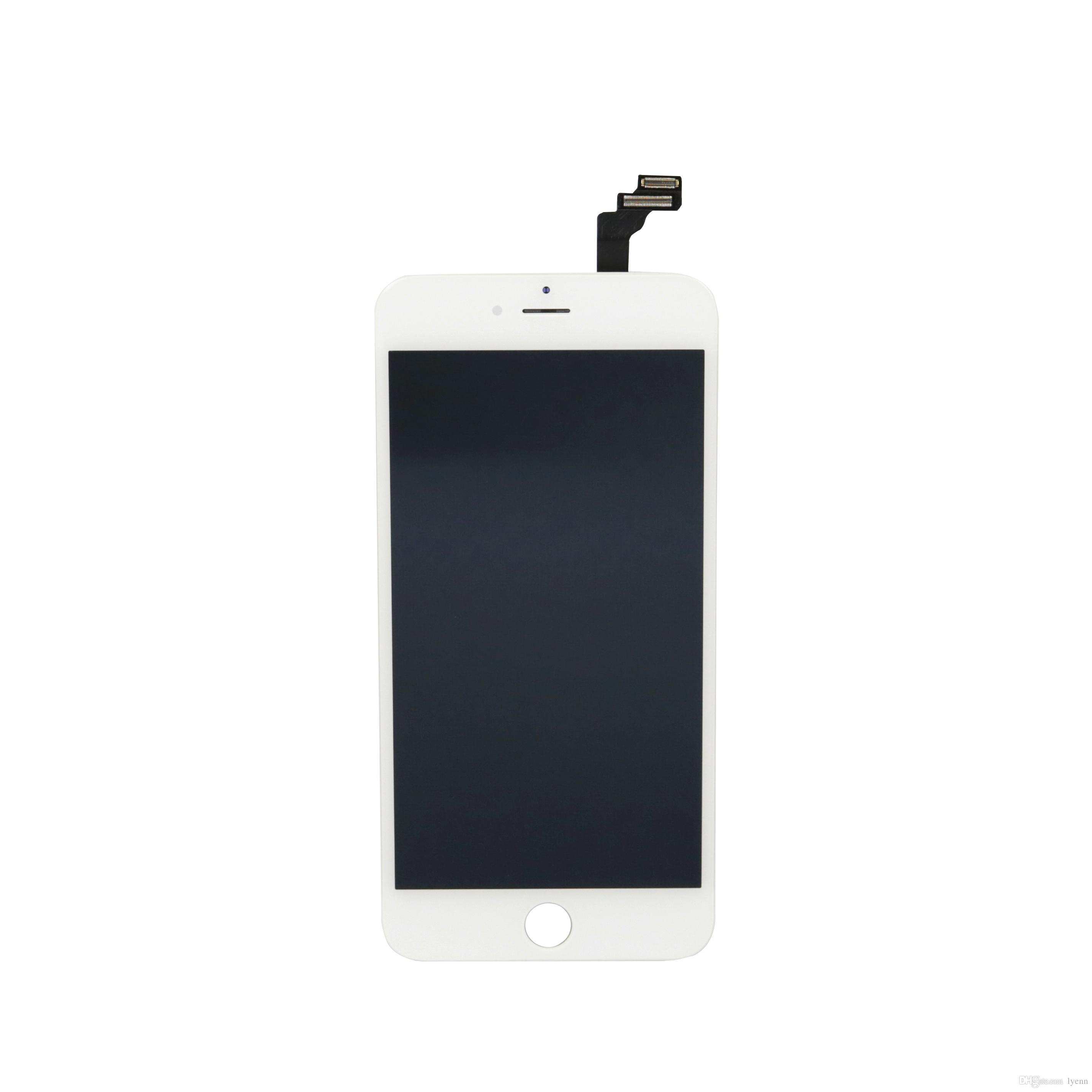 10 piezas por caja LCD para iPhone 6 Plus pantalla táctil digitalizador Asamblea Repalcement del piezas de alta calidad No hay pixeles muertos