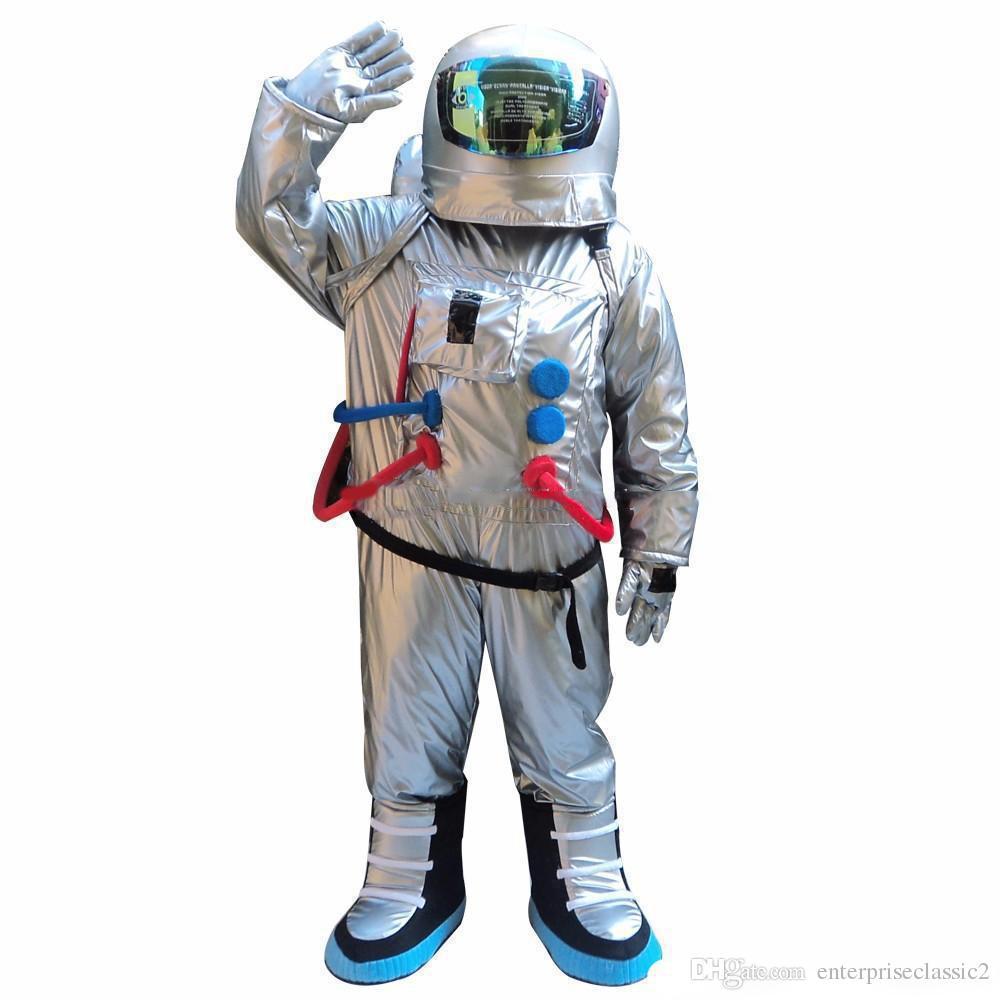 2019 скидка фабрика продажа скафандр костюм талисмана астронавт костюм талисмана с рюкзаком перчатки, без обуви доставка