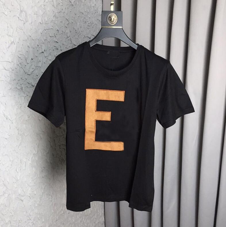 19ss di marca calda maglietta di estate LOGO casuale manica corta T per uomini donne paio Via abbigliamento con lettere stampate solido di colore M-3XL