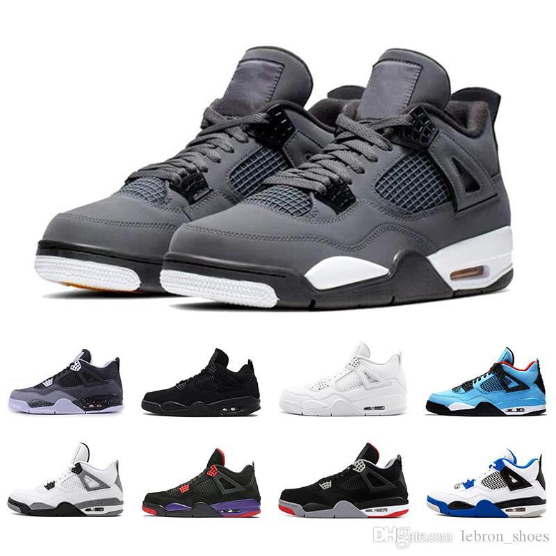 nike air jordan 4 zapatos frescos grises 4s baloncesto Breathe los hombres zapato corriente del Negro nuevo gato hombre Bred entrenadores deportivos zapatillas de deporte