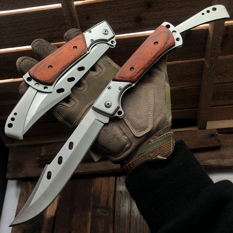 아주 SUYRDY 군사 스테인레스 스틸 야외 사냥 캠핑 낚시 서바이벌 나이프 블레이드 나이프 접는 자기 방위 포켓 나이프를 고정