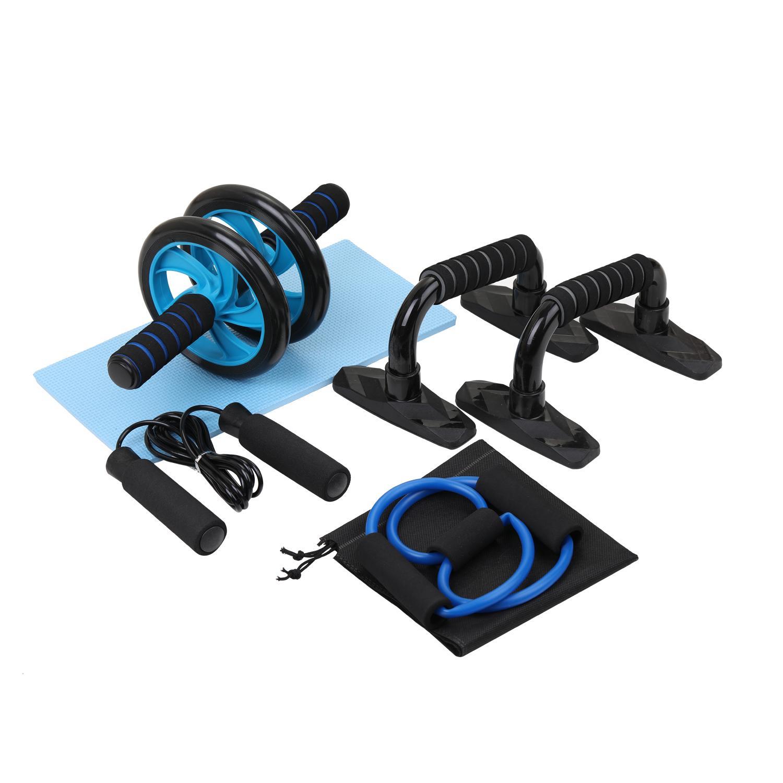 5-в-1 AB Wheel Roller Kit пружинный тренажер брюшной пресс Wheel Pro с пуш-ап-баром оборудование для домашних упражнений тренажерный зал Спорт Y200506