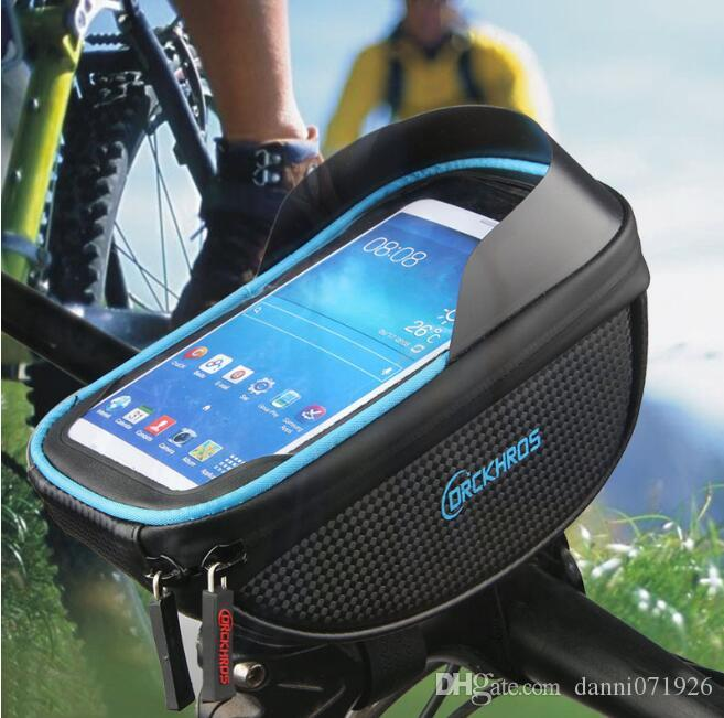 Bicycle Bags Cycling Front Handlebar Touch Screen Phone Bag for Riding Zipper