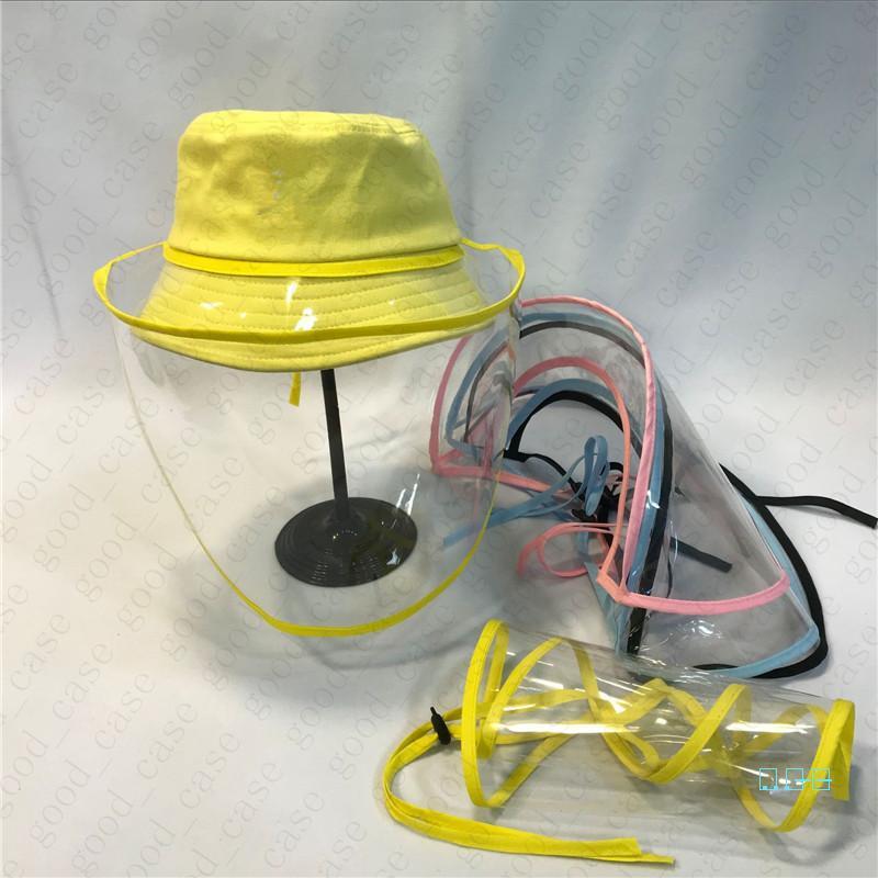 Limpar protetor facial TPU isolamento protetor Hat Máscara Facial Anti-fog Poeira sunproof transparentes Máscaras Fisherman Cap para adultos dos miúdos D42704 Seguro