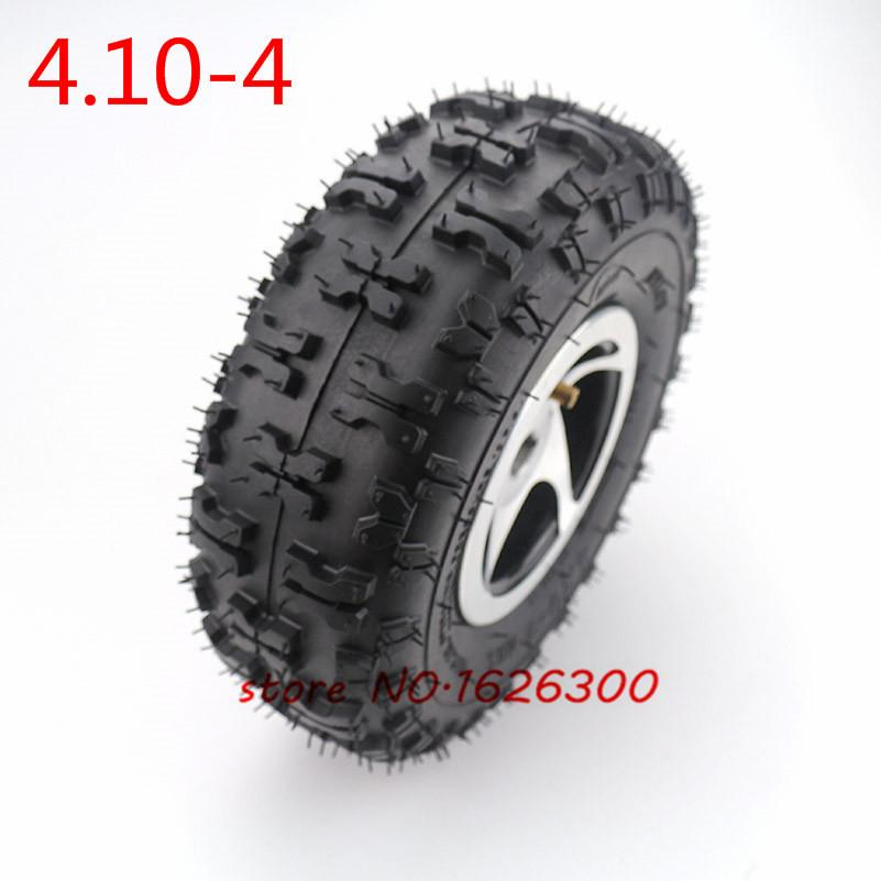 High Quality 4.10-4 Trye Tire and Inner Tube Rim Wheel Alloy Rim Hub for 49cc ATV Quad Go Kart Gas Scooter Bike Motorcy
