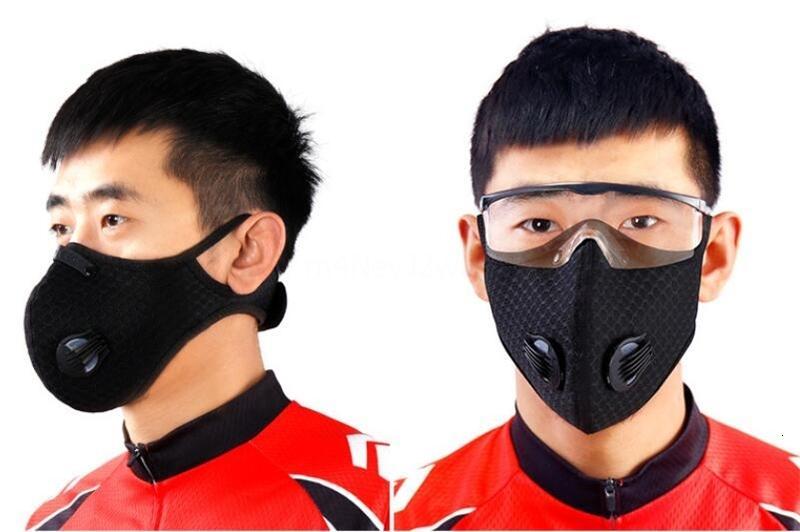 Libera la nave DHL! PM2.5 polvere lavabile Outdoor Ciclo Maschera Carbone Attivo Unisex Cotone FaTop Sell QADP79