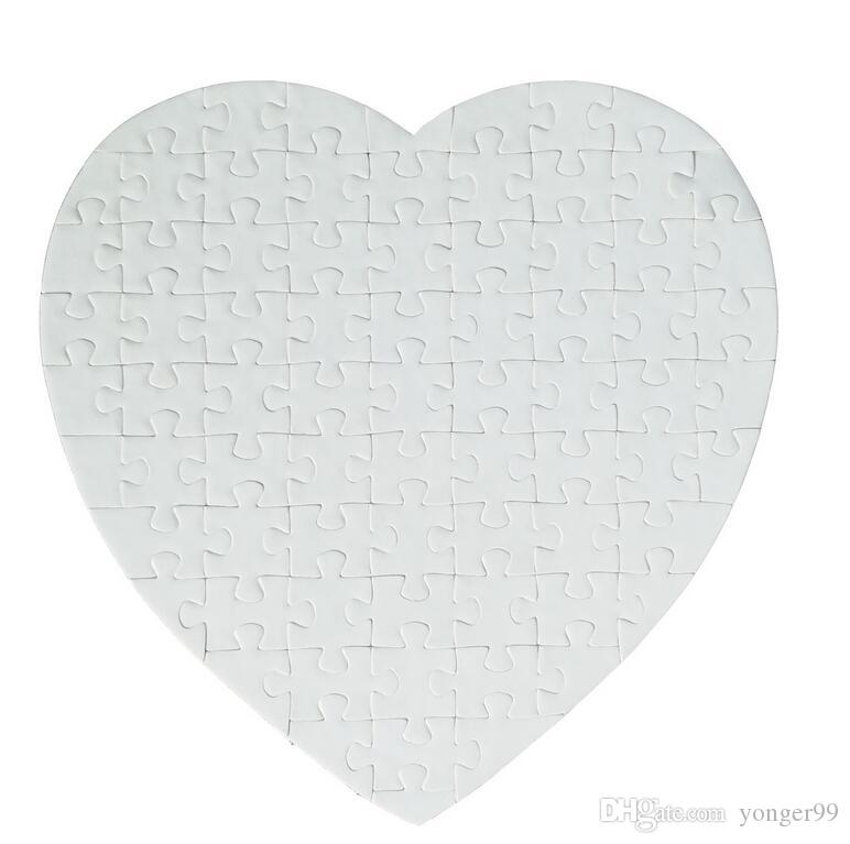 Покровительство Day Party Blank Heart Shaped Сублимация Пазлы Blank Pearl Головоломка Свадьба День Рождения Валентина и подарок 19 * 19см