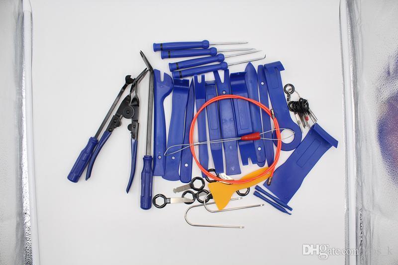 38pcs Automobiles Moto Réparation Jeu d'outils de haute performance Coût Tool Kit Auto boîtes avec fermeture à glissière sac en toile rouge