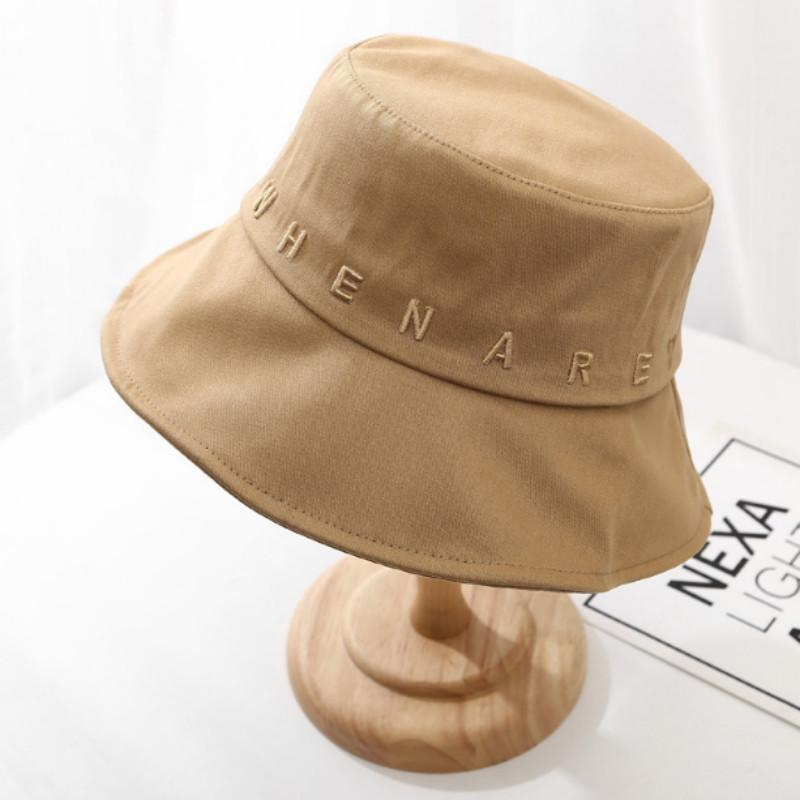 broderie mode chapeau chapeau seau lettre 3D chapeau d'été à large bord femmes crème solaire sports de plein air de randonnée bob panama de pêche