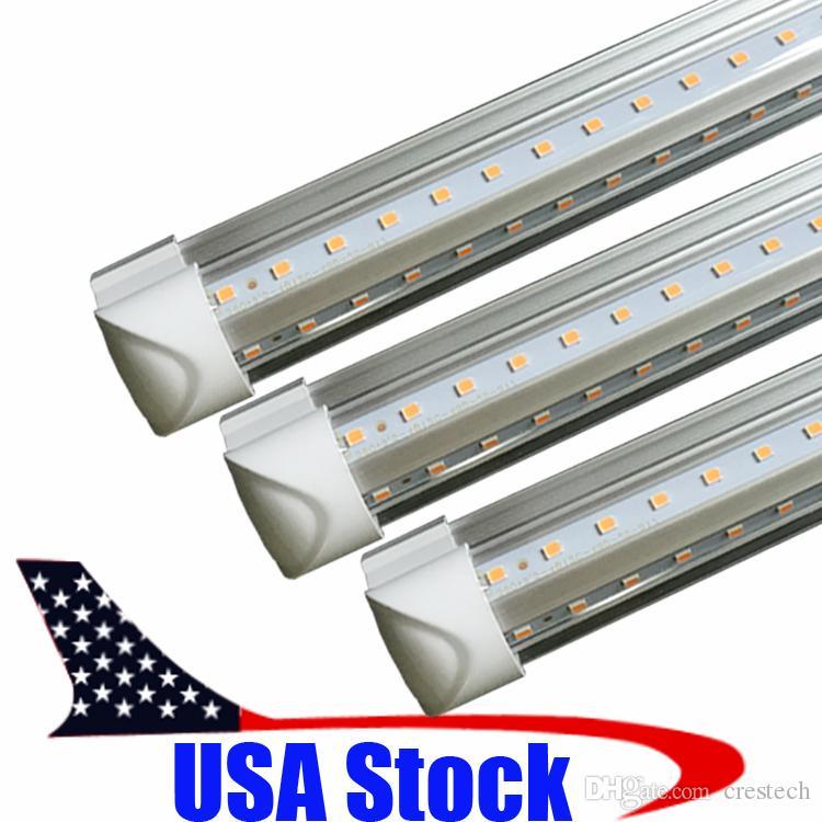 High Power LED Tube 8ft Led Bulbs Tubes T8 Integrated 36W 72W 192LED SMD2835 lampada led lights for home AC85-265V CE ROHS UL