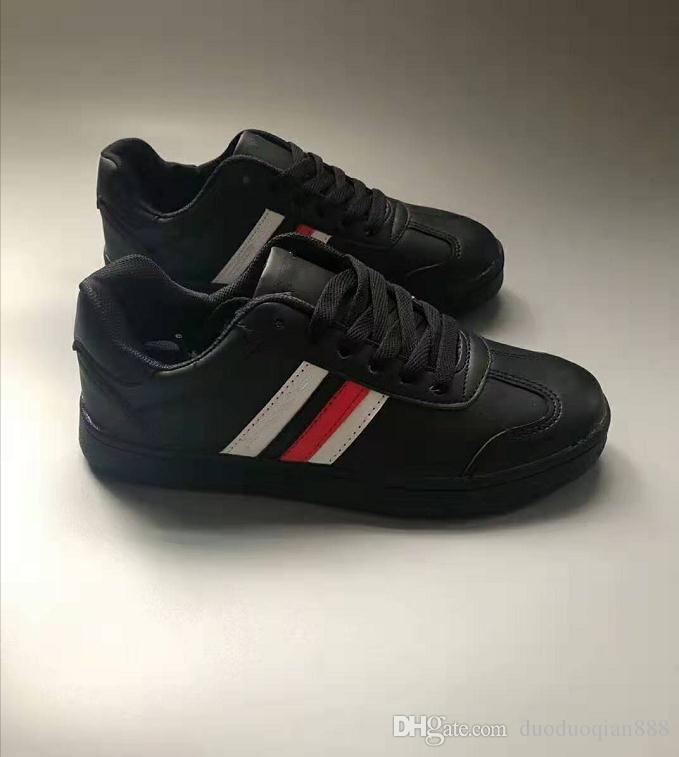 2019 Marca Branca Preto Flat sapatos casuais para homens mulheres sapatilhas Loafers do desenhador de moda Homens Mulheres Low Lace Zapatos Skate Shoes 36-44