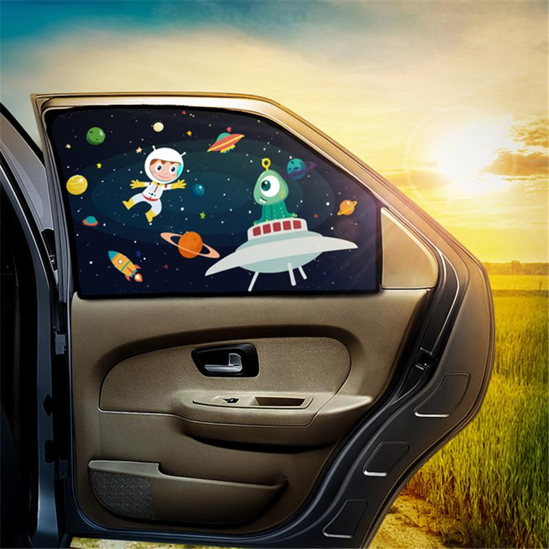 Universal Car Sun Shade Cover UV Protect Curtain Side Window Sunshade Cover For Baby Kids Cute Cartoon Car Styling