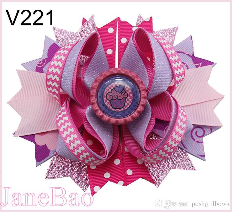 Purple Sprinkles Hair Bow