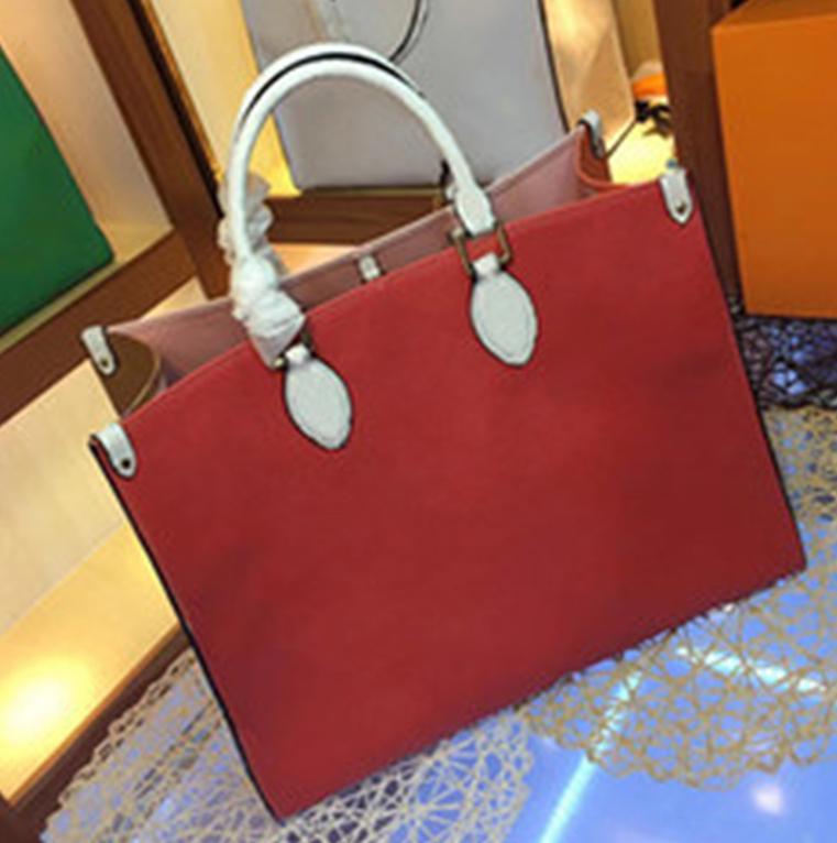 Newset Mulheres Grande Sacos de compras 41cm Bolsa de Ombro Contraste praia da cor bolsas de couro real Handbag Crossbody Bolsa Mensageiro Bolsas