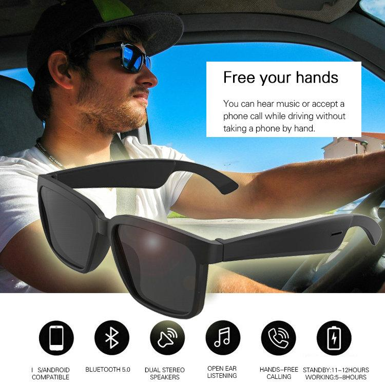 Smart Audio Bluetooth Sunglasses BT5.0 Support Phone Call Free Music Wireless Bluetooth Earphone Headphones Control Open Ear
