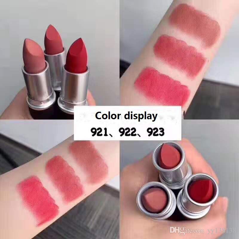Mate lápices labiales para las mujeres atractivo de los labios cosméticos de color del lápiz labial mate impermeable duradera a largo maquillaje negro más nuevo