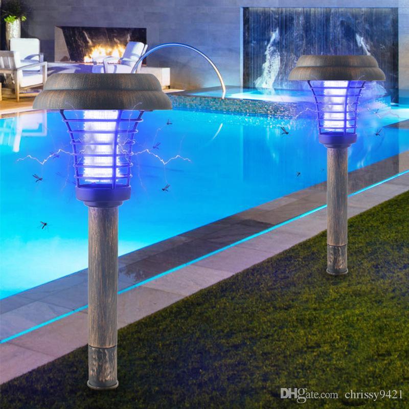 2020 Outdoor Solar Mosquito Killer Led Mosquito Repellent Lamp