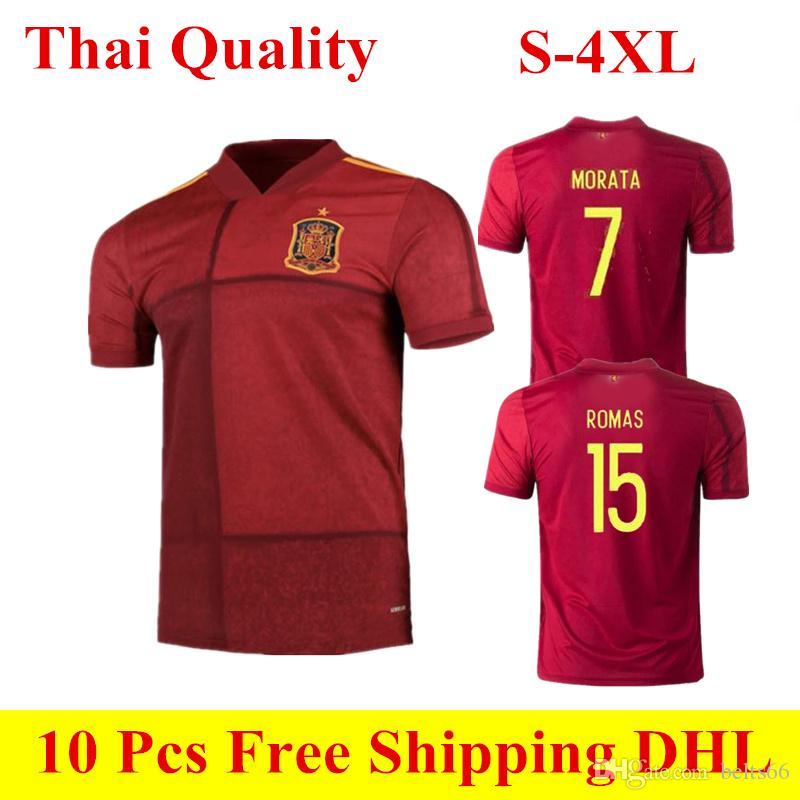 19//20 Football Club European Cup Spain Kids Kits Red Home Jersey Outfit+Socks