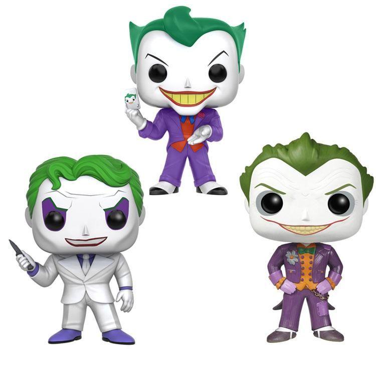 KAWAII Funko البوب باتمان والجوكر لعبة عمل الفينيل أرقام النادرة PVC نموذج دمى هدايا لعبة للأطفال 3 خيارات