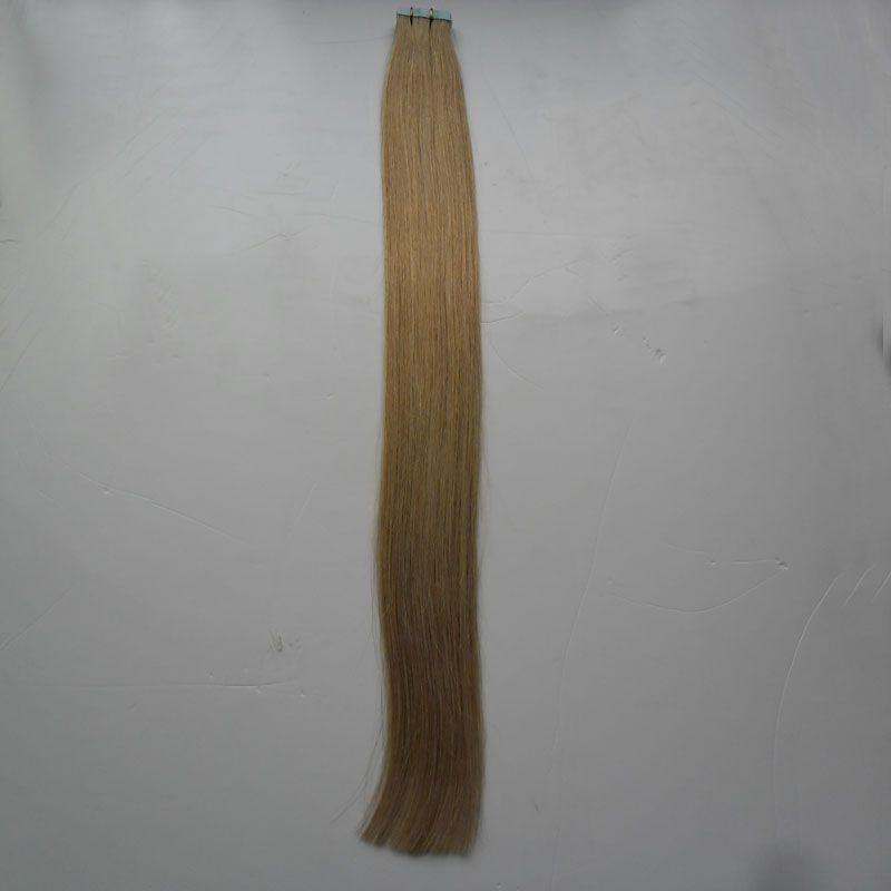 Fita em extensões de cabelo humano 40 pcs 100g dupla desenhada remy cabelo straight invisível pele de trama de pele PU em extensões de cabelo