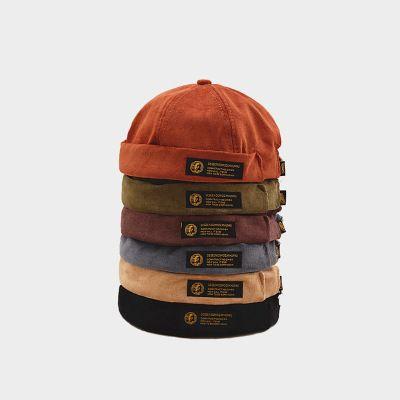 레트로 코듀로이 원래 도커 선원 자전거 캡 브랜드 Brimless Skullcap 남성과 트렌드 모자 가을 힙합 따뜻한 모자를 유지