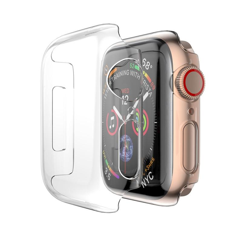 Transparent Cover for Apple Watch Series 3 2 1 38MM 42MM 360 Full Soft Clear TPU Screen Protector Case for Smart Watch 4/5 44MM 40MM