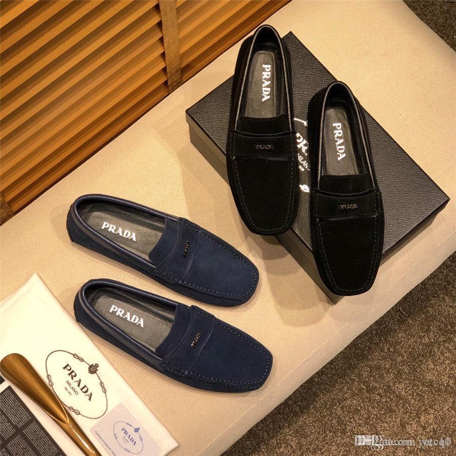 19SS hombres de lujo diseñadores caballero borlas oro rojo Oxfords zapatos de los planos masculino gasa vestido de boda del partido de los zapatos de baile YECQ1