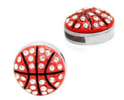 (20 ، 50) قطعة / الوحدة 8 ملليمتر الراين كرة السلة الرياضة الشريحة سحر صالح لل 8 ملليمتر diy الجلود معصمه / سوار الحلي