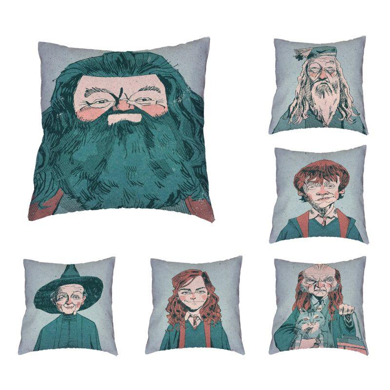 New Design Cartoon Character Series Autumn Pillowcase Beard Cat Hat Living Room Sofa Lounge Chair Home Decoration Cushion Cover SH190814