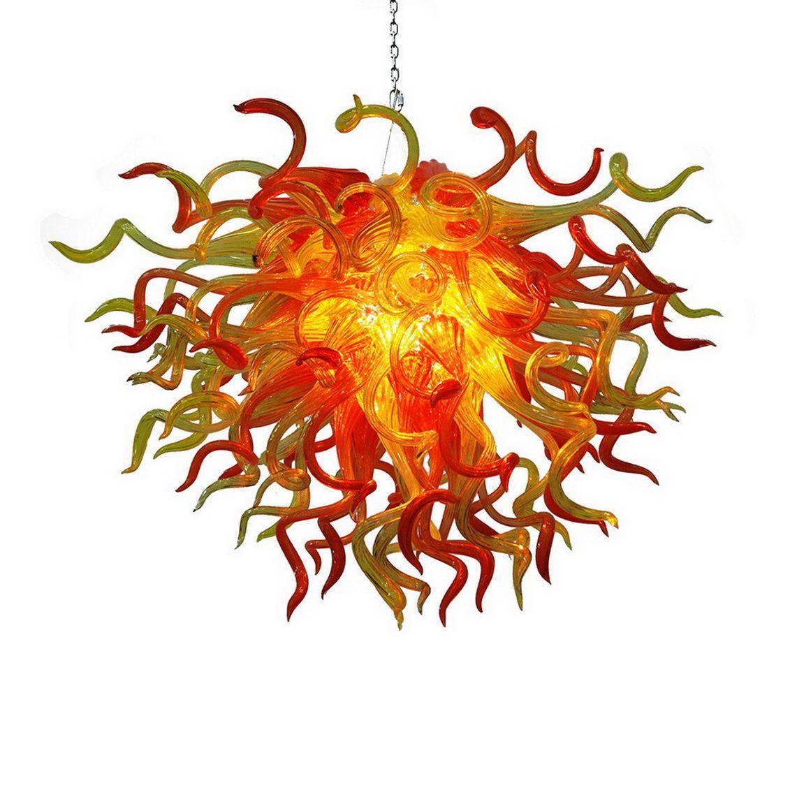 El más barato de Navidad lámpara de cristal soplado de luz grande de alta techo de cristal de Murano pendat indio antiguo de cristal lámparas pendientes