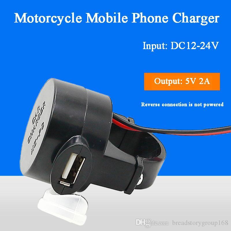 DC5V 2A için Scooter Motosiklet Cep Telefonu Şarj Araç USB Soket Adaptör Modifikasyon Aksesuarlar Su geçirmez USB Araç Şarj DC 12V 24V
