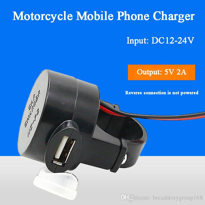 شاحن الهاتف سكوتر الدراجات النارية موبايل للسيارات USB محول المقبس تعديل اكسسوارات للماء USB شاحن سيارة DC12V 24V إلى DC5V 2A