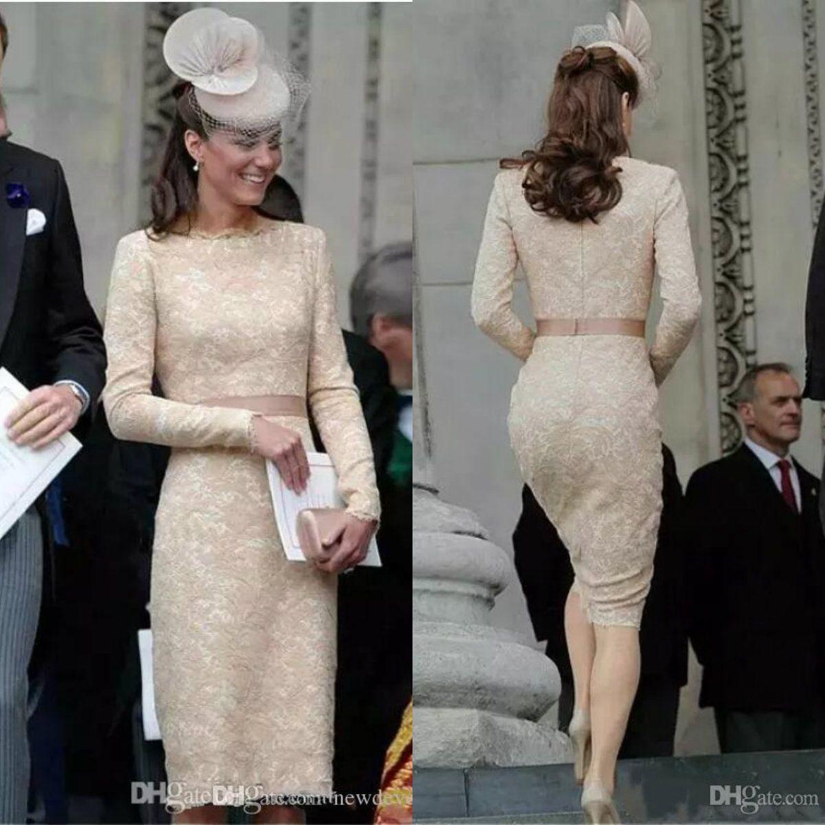 Abito Cerimonia Kate Middleton.Acquista Celebrity Kate Middleton Champagne Abiti La Madre Della
