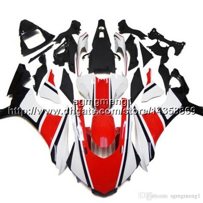 Custom+Screws Injection mold red white motorcycle panels for Yamaha YZF-R1 2015-2016 15 16 YZFR1 ABS motor Fairings