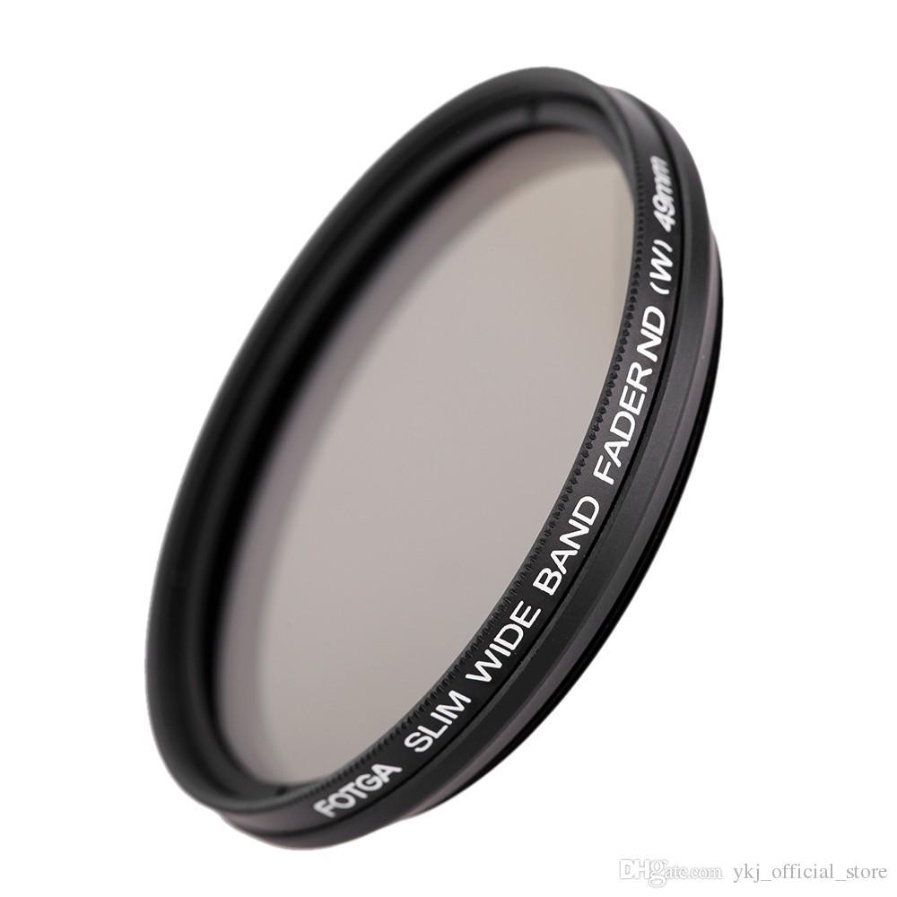 49 milímetros / 52 milímetros ND filtro de densidade neutra Filtros ND2 ND4 ND8 ND400 Lens Variável ND Fader para Canon Nikon Digital DSLR Camera Camcorder DV