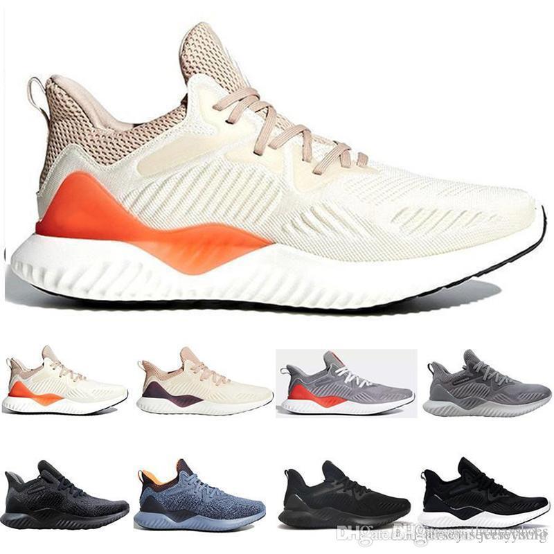 AlphaBounce beyonds mármoles tiburón Fuera de los zapatos corrientes Negro Blanco Caqui Alfa de rebote para hombre de las zapatillas de deporte de las mujeres de diseño de deporte